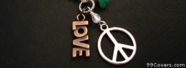 love peace hippie necklace Facebook Cover Photo