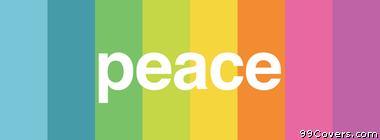 minimalistic peace rainbow Facebook Cover Photo