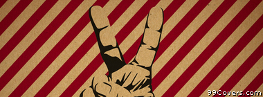 hand peace victory sign Facebook Cover Photo