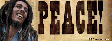 music peace Bob Marley Facebook Cover Photo