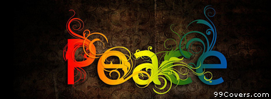 rainbow peace type Facebook Cover Photo
