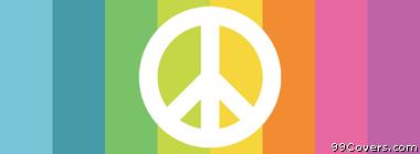 minimalistic peace sign rainbow Facebook Cover Photo