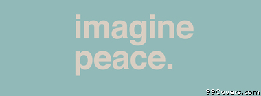 imagine peace Facebook Cover Photo