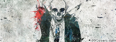 skull suit Facebook Cover Photo