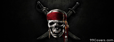 Pirates of the Caribbean skull Facebook Cover Photo