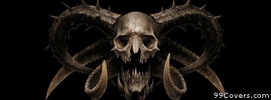 skull with horns Facebook Cover Photo