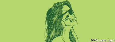 green girl skull Facebook Cover Photo
