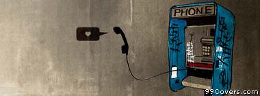 Street Art payphone heart Facebook Cover Photo