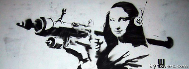 Mona Lisa Street Art Facebook Cover Photo