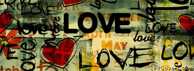 Abstract Love Street Art Facebook Cover Photo