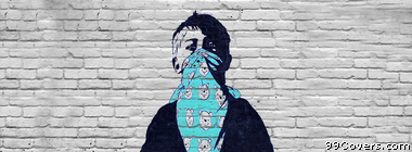 Street Art boy Facebook Cover Photo