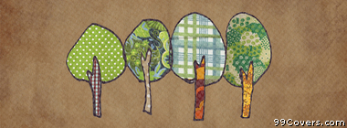vintage tree patterns Facebook Cover Photo