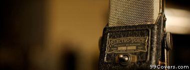 vintage microphone Facebook Cover