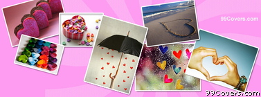 Hearts Collage Facebook Cover Photo