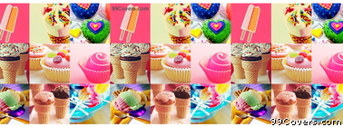 Candy And Dessert Collage Facebook Cover Photo