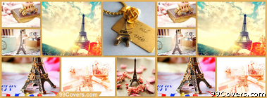 colorful Paris Collage Facebook Cover Photo