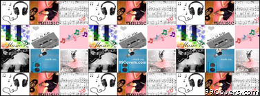music Collage Facebook Cover Photo