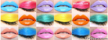 Colorful Makeup Collage Facebook Cover Photo