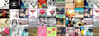 Icons Collage Facebook Cover Photo