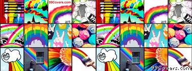 Rainbow Collage Facebook Cover Photo