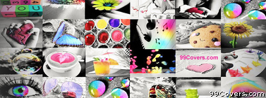 Colorful Collage Facebook Cover Photo