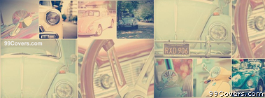 vintage Car Collage Facebook Cover Photo