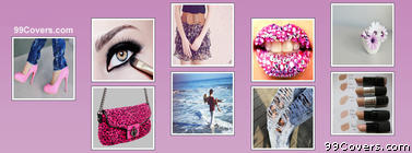Girly Collage Facebook Cover Photo