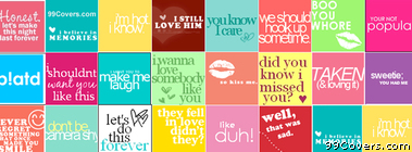 colorful Quotes Collage Facebook Cover Photo