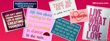 Quotes Collage Facebook Cover Photo