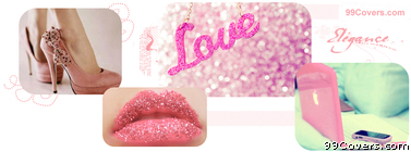Girly Love Collage Facebook Cover Photo