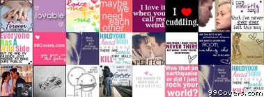 Love Quotes Collage Facebook Cover