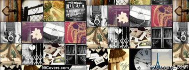 Vintage collage Facebook Cover Photo