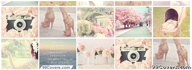 cute Girly Collage Facebook Cover Photo