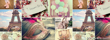 Paris Collage Facebook Cover Photo