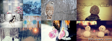 Winter snow Collage Facebook Cover Photo