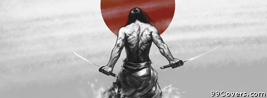 Japanese Samurai katanas Facebook Cover Photo
