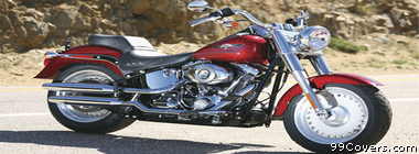 Harley Davidson FLSTF Softail Fat Boy Facebook Cover Photo