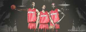 miami heat three top Facebook Cover