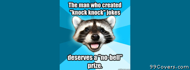Lame Pun Coon knock knock jokes Facebook Cover Photo
