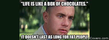 Offensive Forrest Gump Facebook Cover Photo
