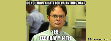 Schrute valentines day Facebook Cover Photo