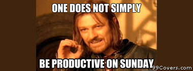 Boromir productive sundays Facebook Cover Photo