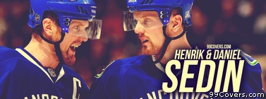 Henrik & Daniel Sedin Vancouver Canucks Facebook Cover Photo