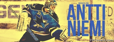 Antti Niemi San Jose Sharks Facebook Cover Photo