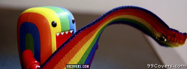 domo rainbow pride Facebook Cover Photo