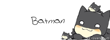 cute batman cartoon Facebook Cover Photo