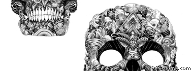 skull illustration Facebook Cover Photo
