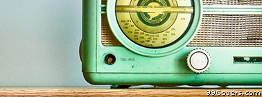 vintage retro radio Facebook Cover