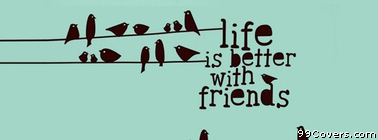 life is better with friends birds illustration Facebook Cover Photo
