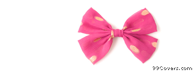 pink bow Facebook Cover Photo